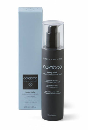 oolaboo blushy truffle platinum hair bath 250 ml