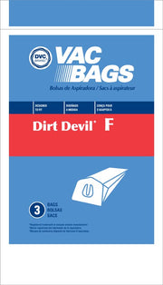 Dirt Devil Type F Bags 3-Pack