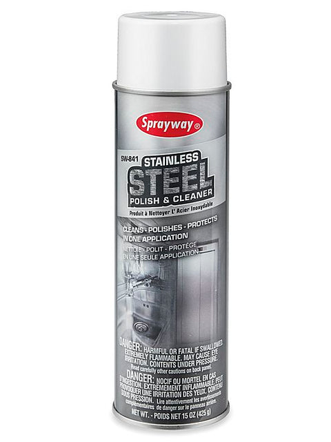 Sprayway Stainless Steel Cleaner, 15oz