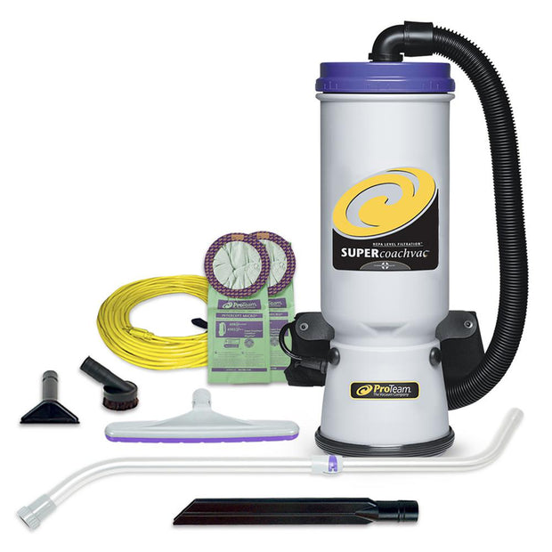 ProTeam Super CoachVac 10 QT. Backpack Vacuum