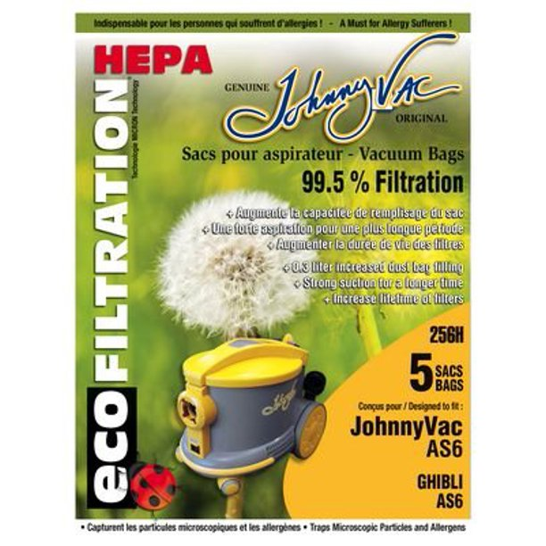 Johnny Vac AS6 HEPA Bags