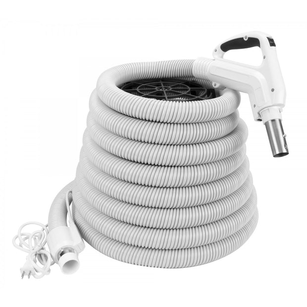 Electric Hose for Central Vacuum White