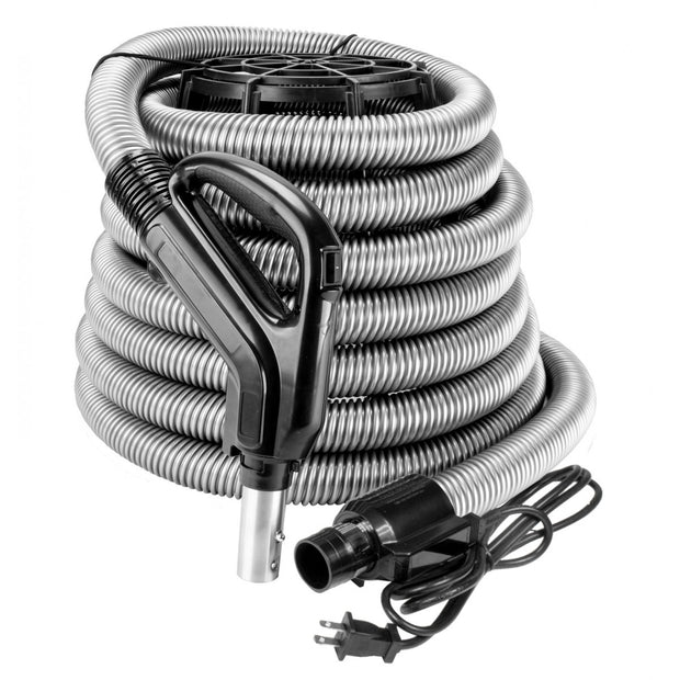 Electric Hose for Central Vacuum Black