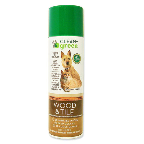 Clean Green Wood and Tile All Natural Pet Stain Remover, Odor Eliminator and Cleaner - 14 Oz.