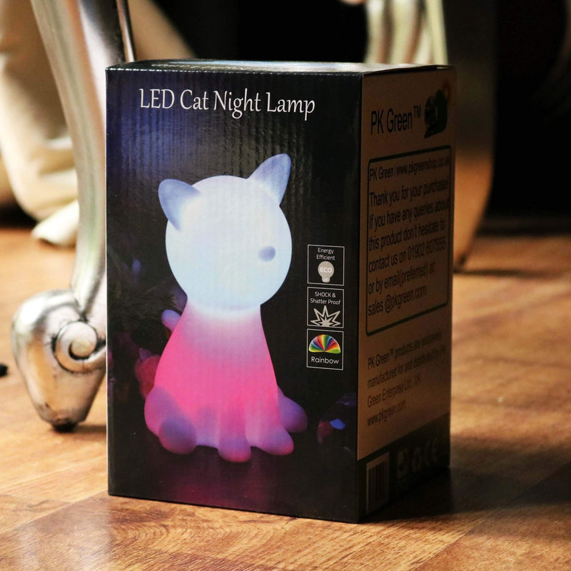 Nachtlamp Kids Bedlamp op Batterijen LED Speelgoedlamp, Kat