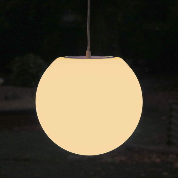 Ronde Hanglamp, E27 Plafondverlichting Hanglamp 20cm, Warm Wit LED