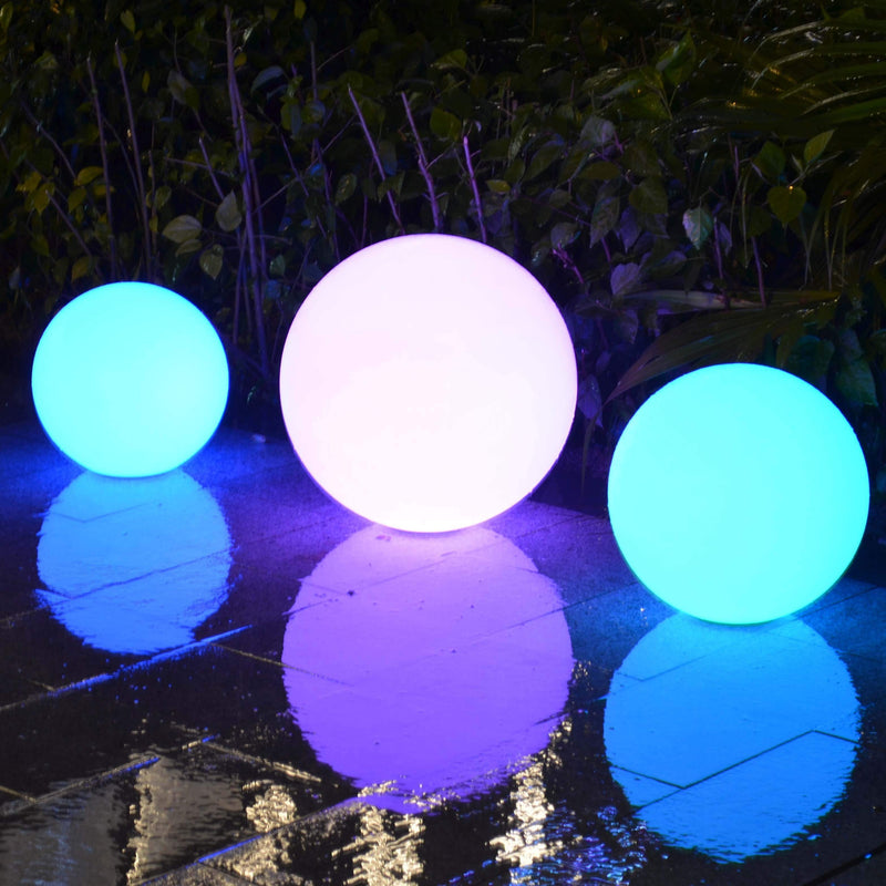 Drijvende LED Bol Voor Zwembad, Bubbelbad, Vijver , LED Tuinlamp, 20cm