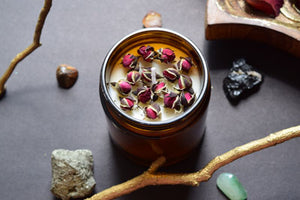 Rose Soy Candle - MOONCHILD PRODUCTS
