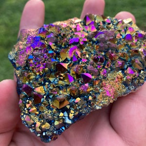 Isabella Rainbow Titanium Quartz Cluster - MOONCHILD PRODUCTS