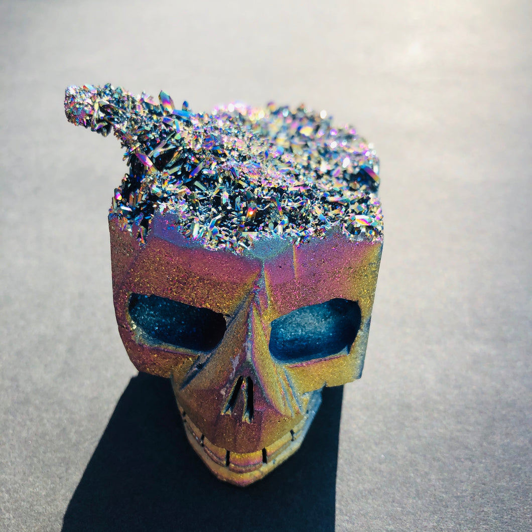 Jack Rainbow Titanium Quartz Skull - MOONCHILD PRODUCTS