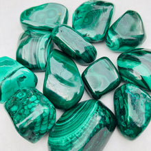 Load image into Gallery viewer, Malachite Tumbled Stone - MOONCHILD PRODUCTS