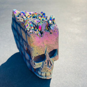 Yago Rainbow Titanium Quartz Skull - MOONCHILD PRODUCTS