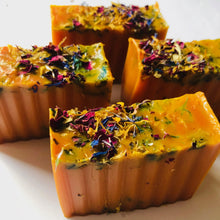 Load image into Gallery viewer, Turmeric Ginger Rose Bar - MOONCHILD PRODUCTS