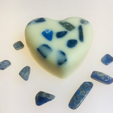 Load image into Gallery viewer, Lapis Lazuli Infused Crystal Massage Bar - MOONCHILD PRODUCTS