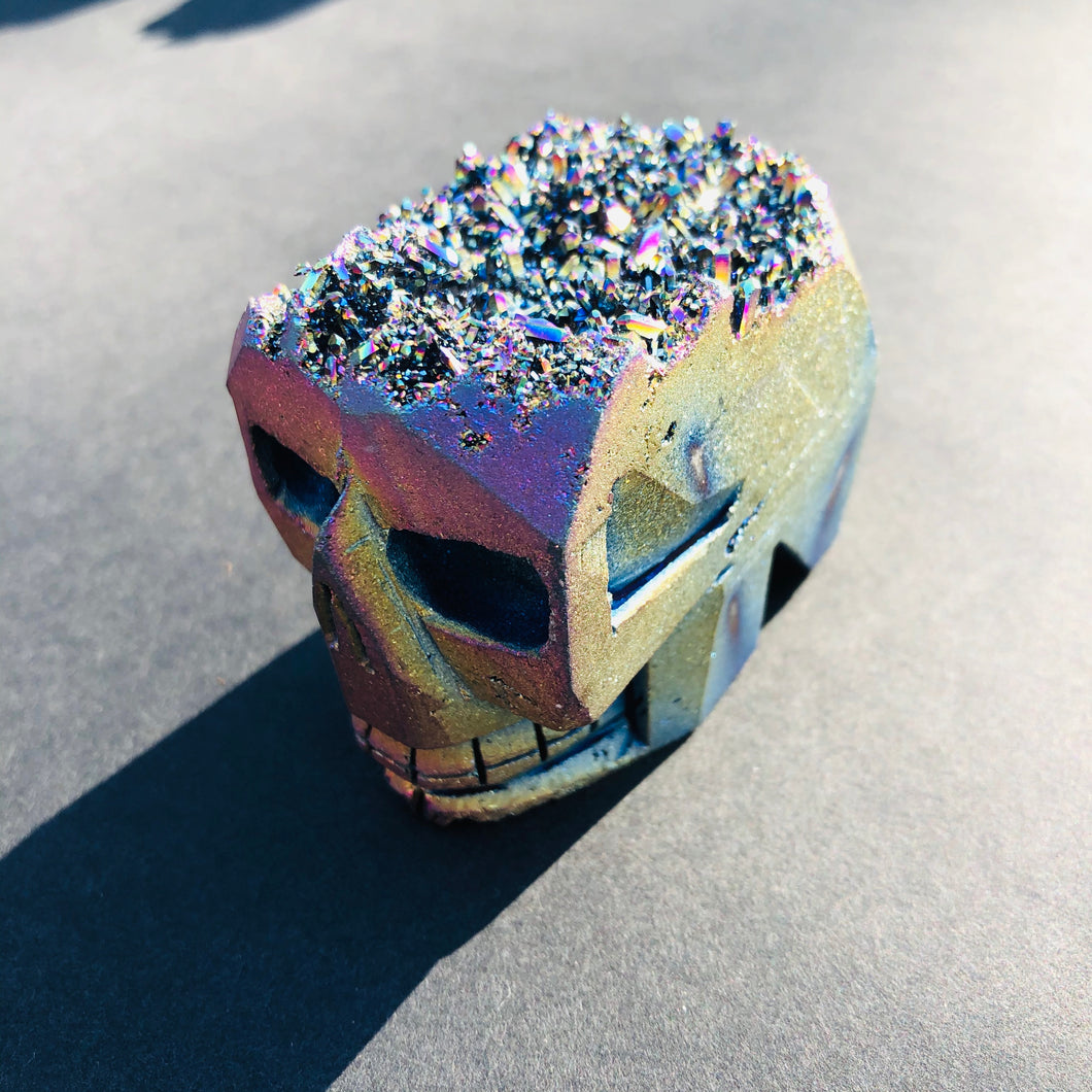 Louie Rainbow Titanium Quartz Skull - MOONCHILD PRODUCTS