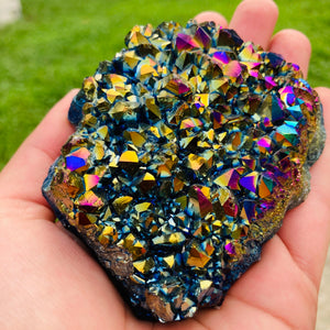 Mia - Rainbow Titanium Quartz Cluster - MOONCHILD PRODUCTS
