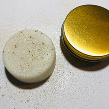 Load image into Gallery viewer, Gold Solid Lotion Body Bar - MOONCHILD PRODUCTS