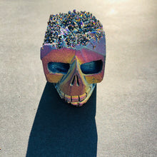 Load image into Gallery viewer, Louie Rainbow Titanium Quartz Skull - MOONCHILD PRODUCTS