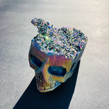 Load image into Gallery viewer, Jack Rainbow Titanium Quartz Skull - MOONCHILD PRODUCTS