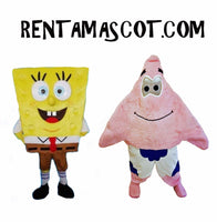 Sponge bob Square pants Patrick Mascot fancy dress hire