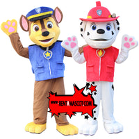 Paw patrol Marshall Chase Mascot fancy dress costume hire mascot