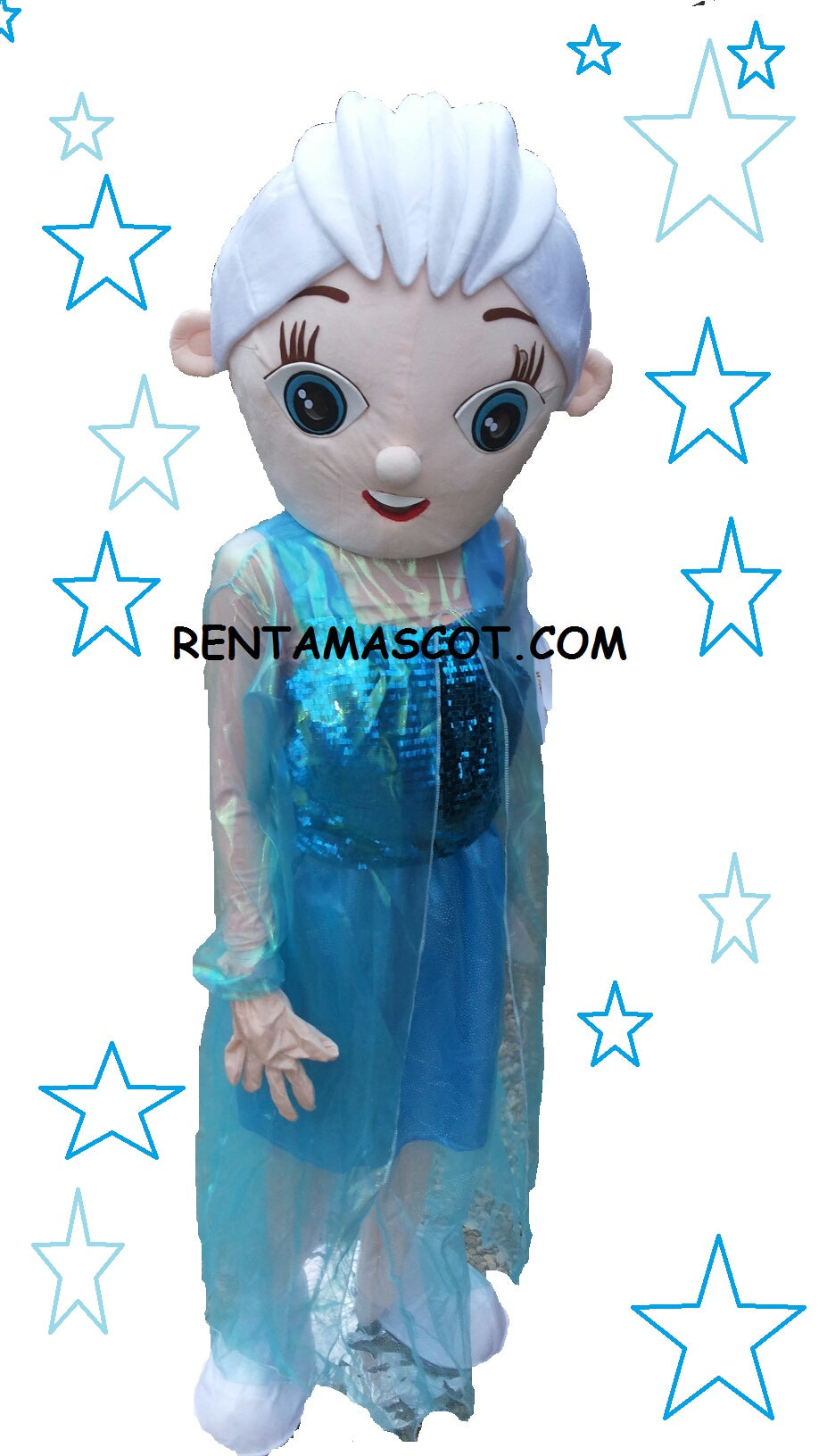 ELSA Frozen Princess Mascot fancy dress costume hire