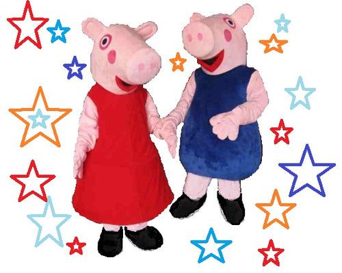 PEPPA GEORGE PIG MASCOT COSTUME HIRE