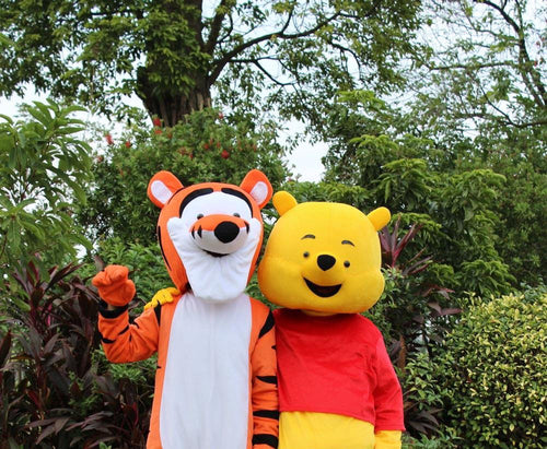 Winnie the Pooh + Tigger Mascot Fancy dress Costume Hire