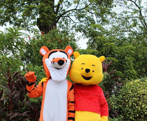 WINNIE THE POOH+ TIGGER Mascot Fancy dress Costume Hire