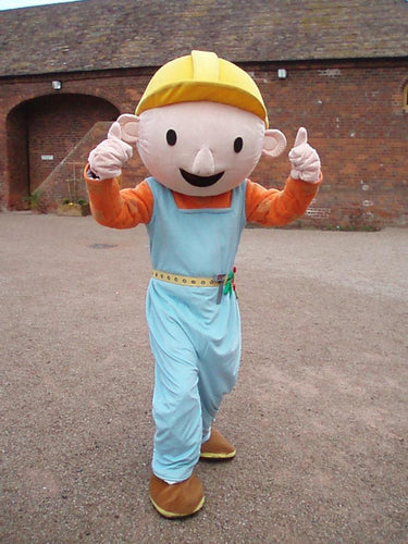 BOB THE BUILDER Mascot Fancy Dress Costume HIre