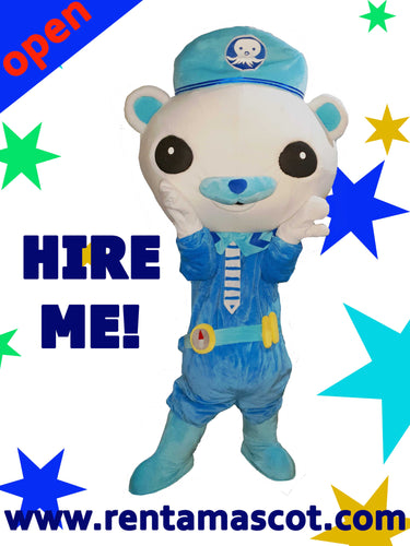 Captain Barnacles Octonauts Mascot Fancy Dress Costume hire