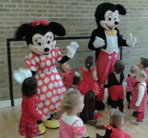 MICKEY and MINNIE Mouse Mascot Fancy Dress Costume Hire