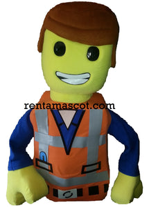 LEGO Mascot fancy dress costume hire Emmett Wyldstyle Good Cop Bad Cop LEGO Batman