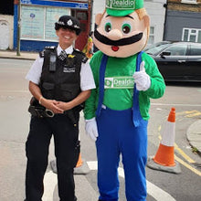 Load image into Gallery viewer, MARO and LUIGI Mario Bros Mascot Costume Fancy Dress Hire