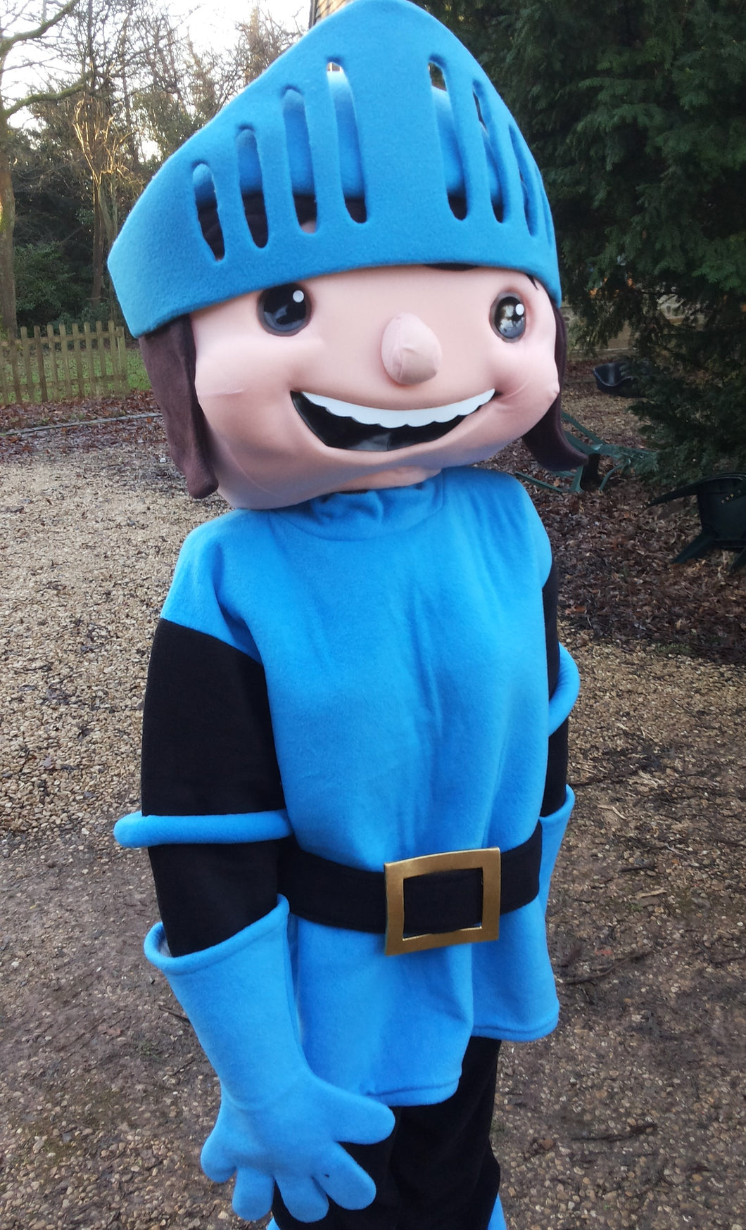 MIKE THE KNIGHT BBC Adult Mascot Fancy Dress Costume hire