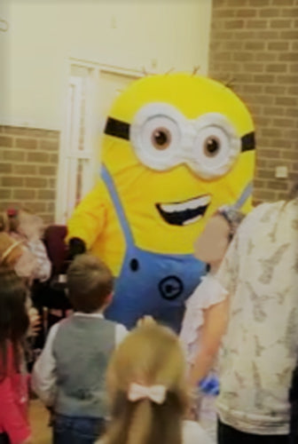 MINION mascot fancy dress costume hire