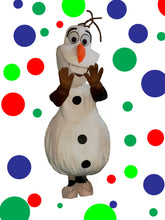 Load image into Gallery viewer, OLAF Frozen Snowman Mascot Fancy Dress Costume Hire