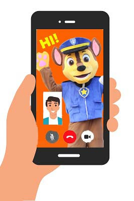 LIVE MASCOT VIDEO CALL (personalised)