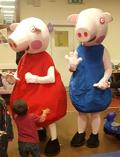 PARTY PIGS Mascot Fancy Dress Costume hire
