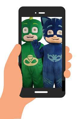 PJ MASKS - CAT BOY + GEKKO VIDEO (generic happy birthday) INSTANT DOWNLOAD