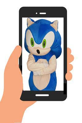 SONIC the HEDGEHOG VIDEO (generic happy birthday) INSTANT DOWNLOAD