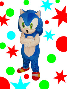 SONIC the hedgehog character mascot cosutme hire