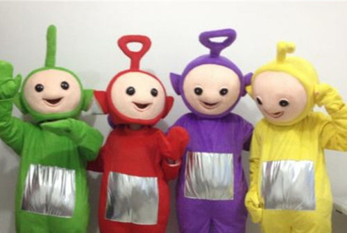 TELETUBBIES Lala Po Dipsy Tinky Winky Adult Mascot Fancy Dress Costume Hire