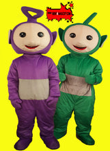 Load image into Gallery viewer, TELETUBBIES Lala Po Dipsy Tinky Winky Adult Mascot Fancy Dress Costume Hire