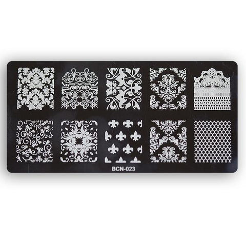 Nail stamp plate - Design 023