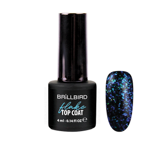 Flake Top Coat 4ml Blå