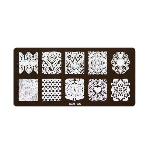Nail stamp plate - Design 027