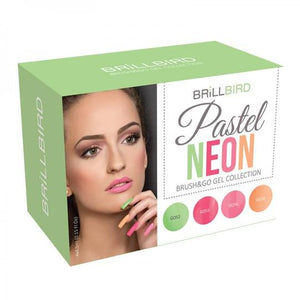 Pastel neon Brush & go colour kit