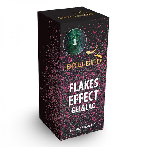 Flake effect gel&lac - 1