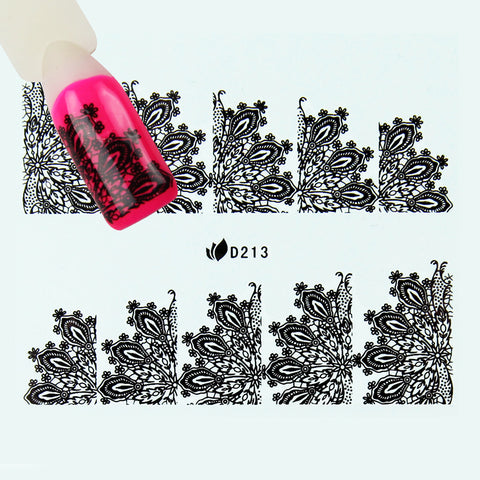 Nail stickers D213 Black